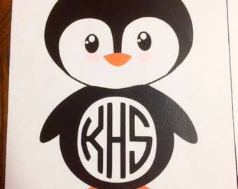Penguin Monogram Mouse pad
