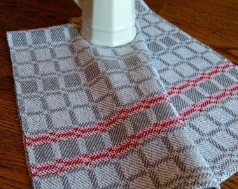 Handwoven Chef Towel, Handwoven Cotlin Towel, Guest Towel, Woven Kitchen Towel, Hand Woven Towel, Batchelor Towel, Hostess Gift, Gourmet