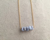 Lace agate stone necklace on 18k Gold Filled chain / choose your necklace size / FREE gift wrapping