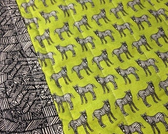 Quilted Placemats, Fabric Placemats, Zebras, Zebra Decor, Animal Decor, Zebra Placemats, Modern Placemats, Animal Placemats
