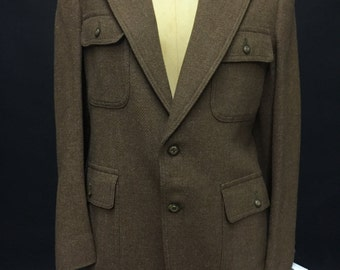 1970s Soft Brown Wool Leisure Jacket (AVAILABLE)