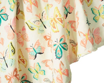 Butterfly Baby Blanket, Minky Baby Blanket, Wingspan, Personalized Baby Blanket, Butterfly Crib Bedding