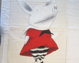 Olivia the Pig Panel Only......Out of Print....Hard to Find....Free Shipping U.S. Only