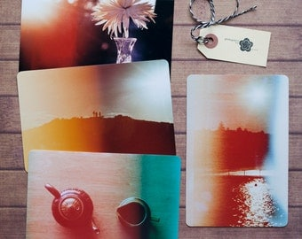 Light Leak Film Photography Notecard Set, Carte Postale, SnailMail, Photography Notecards, Postcrossing, Penpal, Fine Art Film Photo Cards