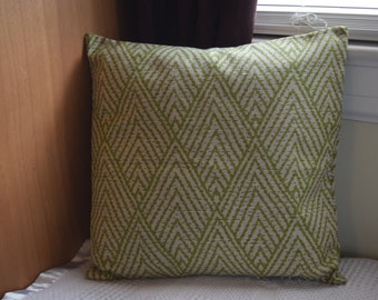 Green and natural Geometric Pillow covers