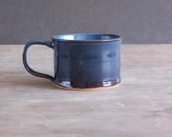 12 oz Mug, Pottery Coffee Mug Tea Cup Soup Mug in Moody Blue