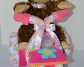 Diaper cake,Baby Shower Gift, Baby Cake, Tricycle, Trike,  Owls, Monkey, Girl ,Centerpiece,
