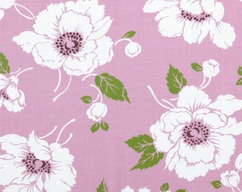 END of BOLT - 16 inches - Tanya Whelan - Dolce - Marilyn in Lavender lilac purple peony poppy floral - cotton quilting fabric
