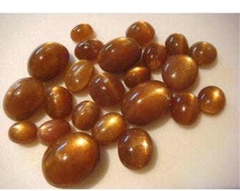 45% ON SALE Sunstone Cabochon, Star Sunstone, Oregon Sunstone, Cabochon Gemstones, 11x13mm To 8x9mm, 34 CTW, 6 Pieces