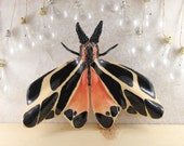 Insect Art Ceramic Moth Wall Hanging