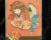 Card handmade of an Indian girl