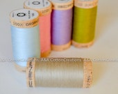 Wheat Scanfil Organic Cotton Thread, Color #4825, 300 Yards spool, for seams, overlock, top stitching, embroidery, quilting and more