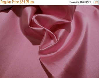 ON SALE Dusty Rose Silk and Wool Alaskine Fabric--One Yard