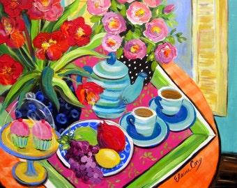 "Large Still life Original Painting 24"" x 36""  Art by Elaine Cory"