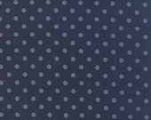 Snowbird by Laundry Basket Quilts - Polka Dots in Cold Blue (42172-21) - Moda - 1 Yard