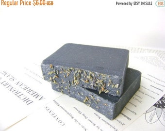 Black Lavender Soap for Face and Body with Esssential Oil and Activated Charcoal bar soap