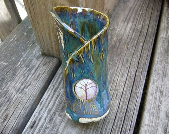 Blue Moon Pottery Bud Vase