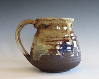 LARGE Mug, 18 oz,  unique coffee mug, handmade ceramic cup, handthrown mug, stoneware mug, wheel thrown pottery mug, ceramics
