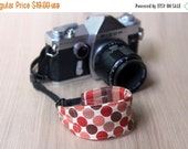 final CLEARANCE Camera Strap for Wrist, DSLR - Quick Release - Rust and Brown Dots - Ready to Ship
