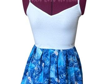 Elsa Tank Top (xs, s, m, l, xl) Disney Frozen, ladies peplum top, Disney clothing, Disney princess, upcycled clothing, snowflakes, winter