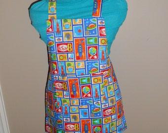Space Blocks Child's apron