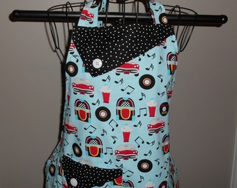 At the Hop/Rock and Roll Women's Apron