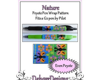 Bead Pattern Peyote(Pen Wrap/Cover)-Nature