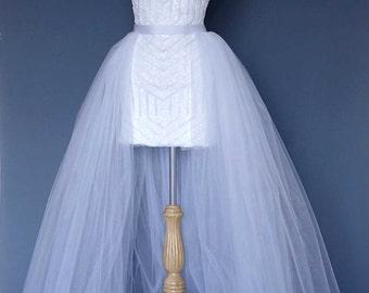 Bridal over skirt. Tulle skirt. Destination wedding outfit.