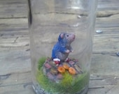 RESERVED Miniature Sonic the Hedgehog: Green Hill Zone in a bottle
