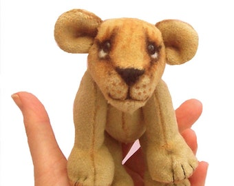 Lion Cub soft toy digital sewing pattern