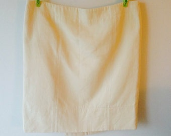Vintage Fendi cream off-white mini short skirt