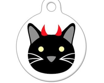 Pet ID Tag - Devilish Kitty Pet Tag, Dog Tag, Cat Tag