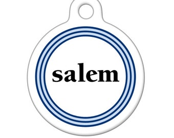Personalized Pet ID Tag - Salem Custom Name and Color Pet Tag, Dog Tag, Cat Tag