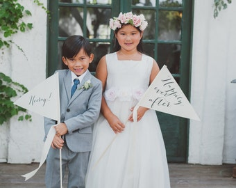 Custom Wedding Banner Package (Set of 2) Large Signs Any Color Custom Phrase Wedding Flag Sign Ceremony Reception Handmade in USA 1255 CC