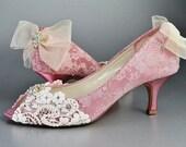 Womens Wedding Shoes Lace Wedding Bridal Shoes Women's Lace Peep Toe Heels Womens Wedding Shoes Womens Bridal Shoes Wedding Shoes Lace P2.25