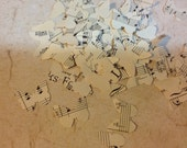 Handmade Confetti from Vintage Sheet Music Over 250 Butterfly Punches - Rippy Bits by TangoBrat Ready to Ship