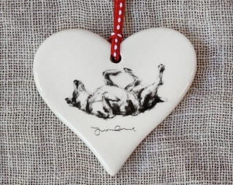 Valentine's Rolling terrier dog Heart