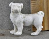 Antique Excavated German Porcelain Miniature Dog Figure 1890