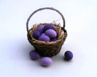 Lavender colored eggs