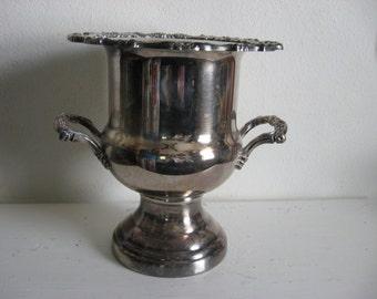 Loving Cup Trophy Urn Champagne Wine Chiller Cooler Engraved Ornate Design