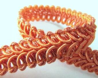 Coral Orange 12mm Raised Heavy Gimp Decorator or Upholstery Trim