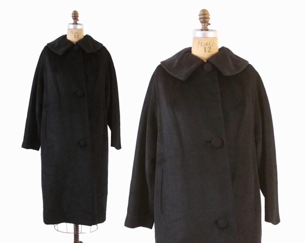 Vintage 60s LILLI ANN Coat / 1960s Soft Mohair Wool Winter Coat S - M