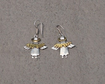 Angel Earrings - Sterling Silver 925 - Made in Mexico - FREE SHIPPING!