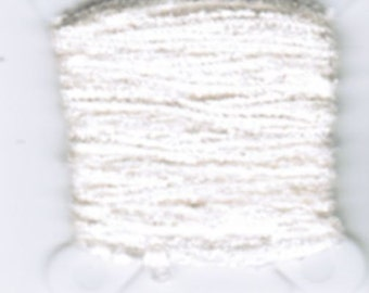 100% Silk Chenille - 2mm OR 4mm White 5201