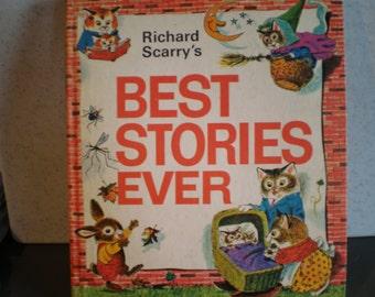 Vintage 1970's Children's Illustrated Book - Richard Scarry's Best Stories Ever