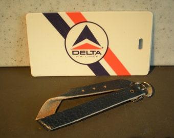Vintage Unused Delta Airlines Plastic Luggage Tag
