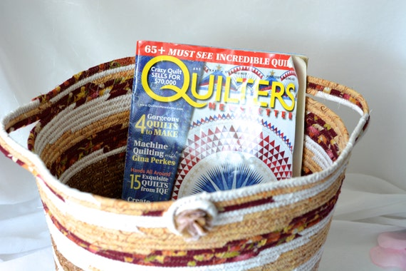 Storage Organizer Basket, Shabby Chic Tote Bag, Magazine Basket, Unique Moses Basket, Gift Basket, Picnic Basket , Shoe Bin