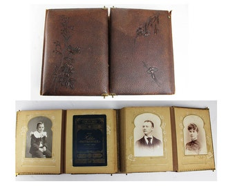 Antique Photo Album and Photographs pre 1900 PRICE REDUCED