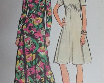 Sewing Pattern Vintage Simplicity 5850 Evening Dress Size 12, wedding, prom, special occasion