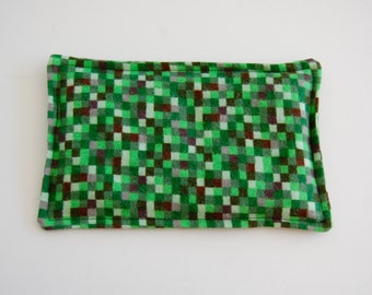 SALE, Rice Heating Pad / Ice Pack, 5 X 8 Green Pixal